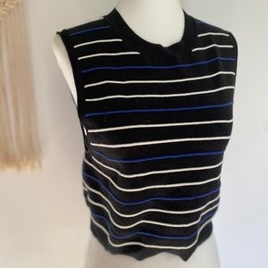 Free People cropped sweater vest in black size lg